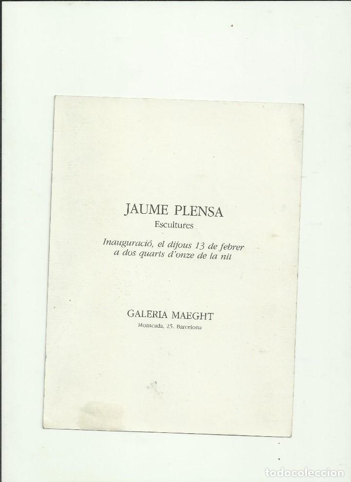 Libros: JAUME PLENSA. GALERIA MAEGHT. - Foto 2 - 203449448