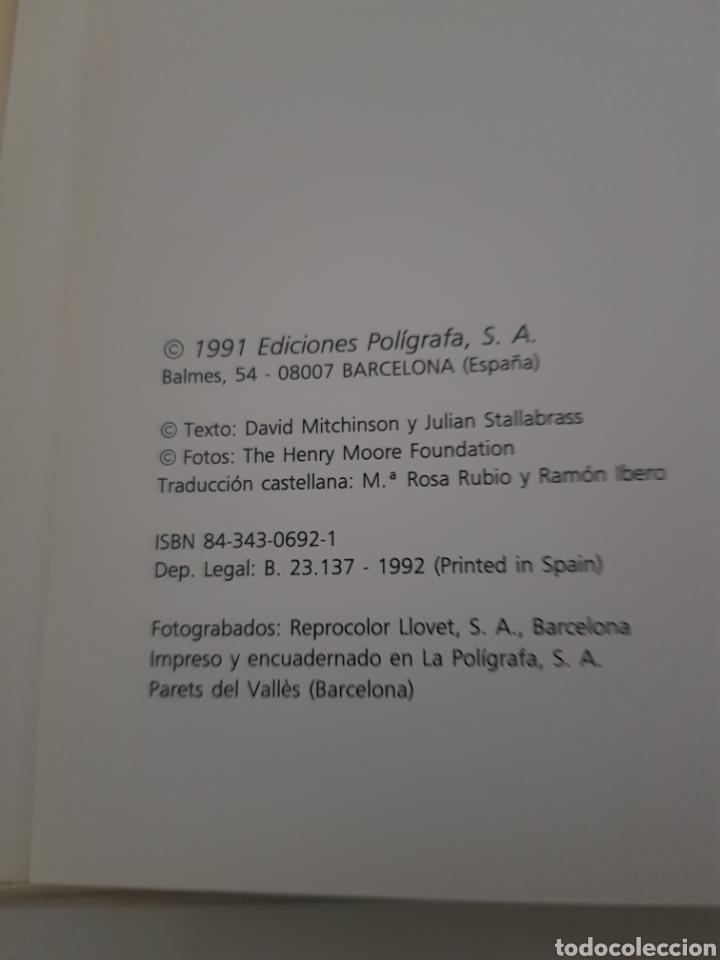 Libros: HENRY MOORE ESCULTURA DE DAVID MITCHINSON EDICION POLIGRAFA 1991 - Foto 3 - 216795400