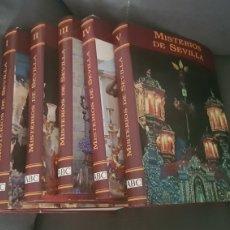 Libros: COLECCION SEMANA SANTA MISTERIOS SEVILLA. 5 TOMOS. Lote 238004935