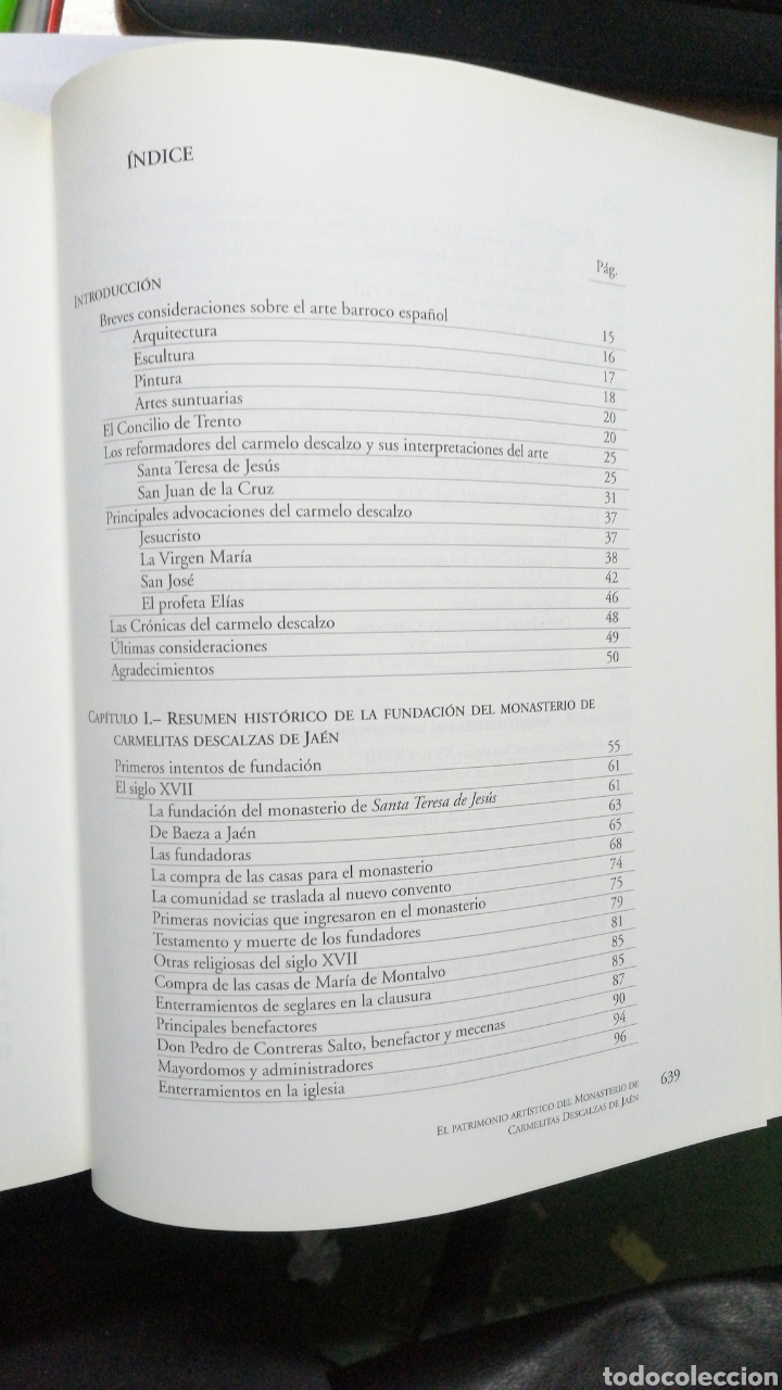 Libros: El Patrimonio Artístico Del Monasterio De Carmelitas Descalzas De Jaén. Carmen Eisman Lasaga - Foto 5 - 243637425
