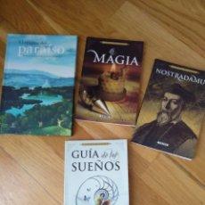 Libros: 4 LIBRO. ESOTERISMO. DE LOS SUEÑOS. LA MAGIA. NOSTRADAMUS. ENIGMA DEL PARAÍSO.. Lote 112514908
