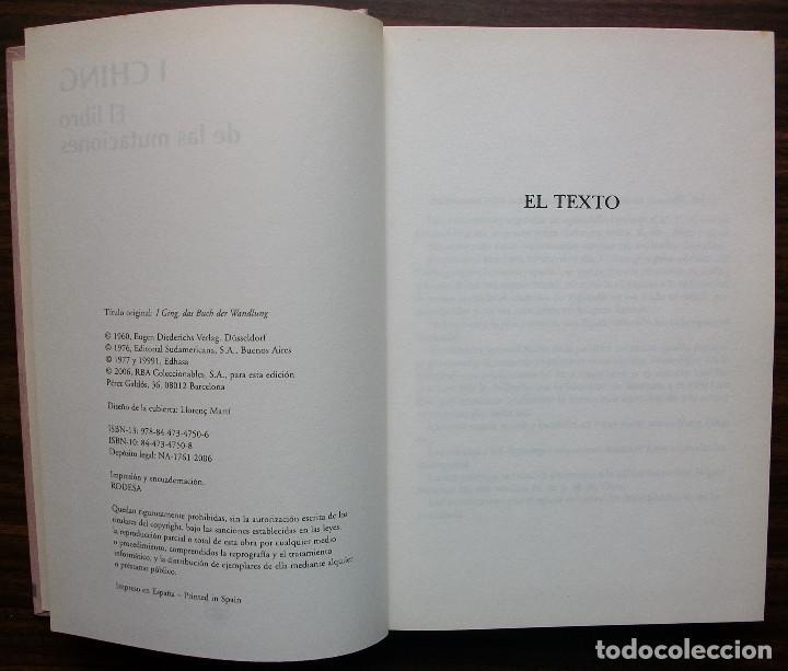 Libros: I CHING. EL LIBRO DE LAS MUTACIONES. 2006 - Foto 2 - 136246390