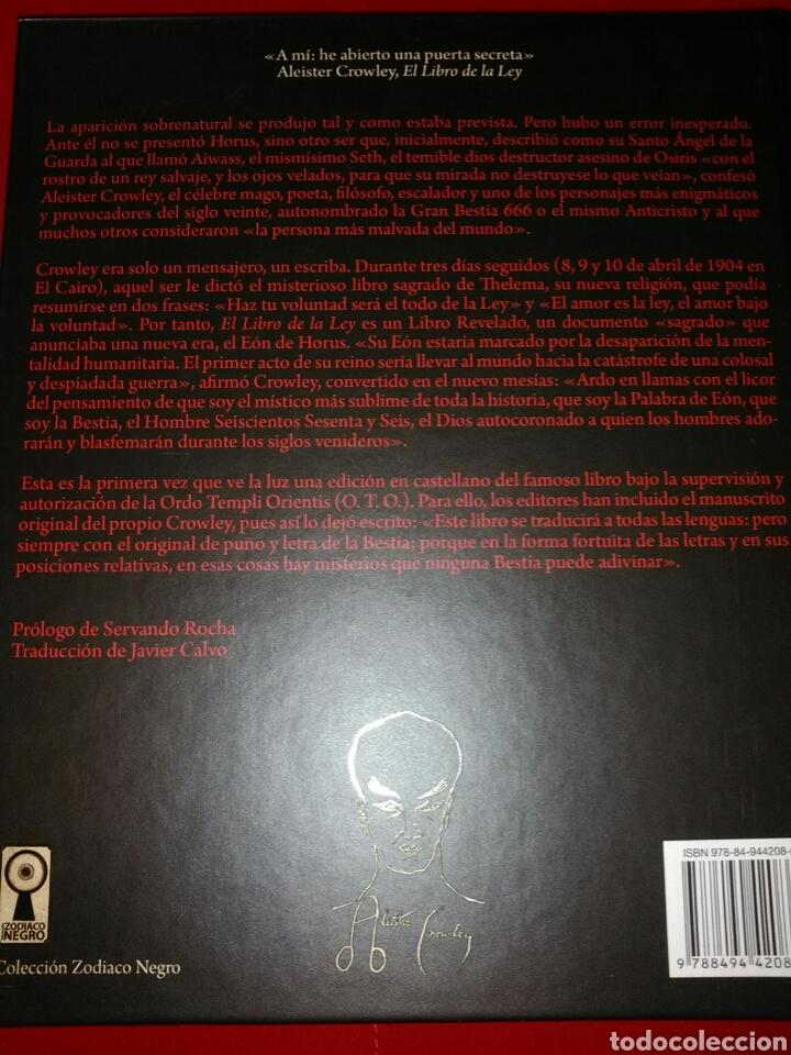 Libros: EL LIBRO DE LA LEY ALEISTER CROWLEY - Foto 4 - 156585421