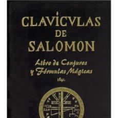 Libros: LAS CLAVICULAS DE SALOMON LUJOSAMENTE ENCUADERNADO. Lote 208955302