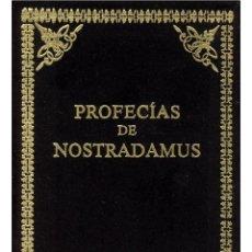 Libros: LAS PROFECÍAS DE NOSTRADAMUS,EN TERCIOPELO NEGRO. Lote 206816743