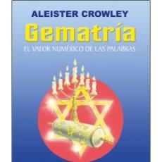 Libros: ALEISTER CROWLEY- GEMATRIA. Lote 178592262