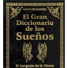 Libros: EL GRAN-DICCIONARIO-DE-LOS-SUENOS-ENCUADERNADO EN TERCIOPELO NEGRO. Lote 178601470