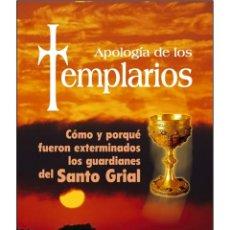 Libros: APOLOGIA DE LOS TEMPLARIOS. Lote 178612161