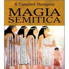 Libros: MAGIA-SEMITICA (ORIENTAL). Lote 178685212