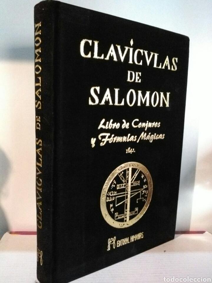***EDICION LUJO.***CLAVÍCULAS DE SALOMÓN. HUMANITAS.***TERCIOPELO NEGRO.*** (Libros Nuevos - Humanidades - Esoterismo (astrología, tarot, ufología, etc.))
