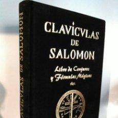 Libros: CLAVÍCULAS DE SALOMÓN. HUMANITAS. TERCIOPELO NEGRO.. Lote 192219831