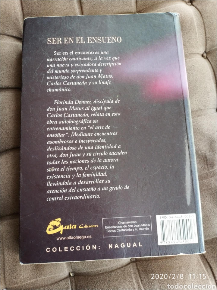 Libros: SER EN EL ENSUEÑO, INICIACIÓN AL ARTE DE ENSOÑAR - FLORINDA DONNER (PRÓLOGO DE CARLOS CASTAÑEDA) - Foto 2 - 193304377