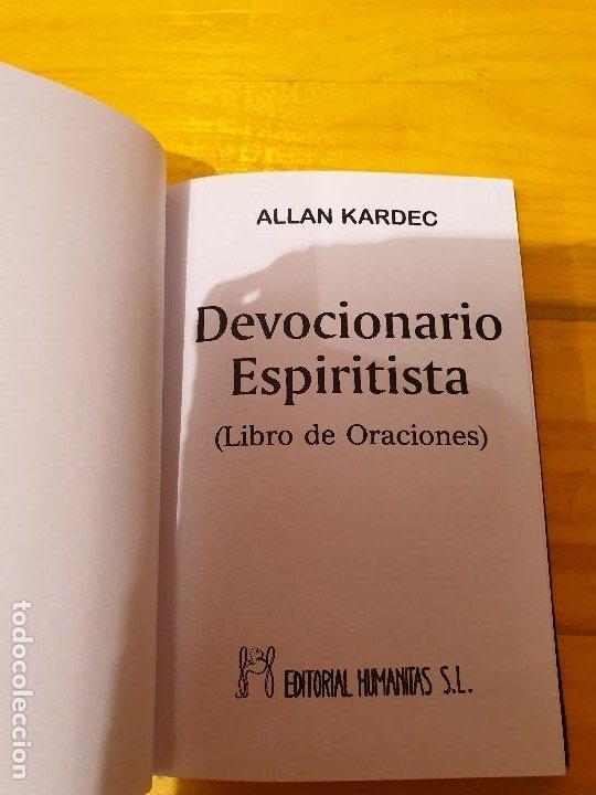 Libros: DEVOCIONARIO ESPIRITISTA: LIBRO DE ORACIONES 1992 - Foto 2 - 199777433