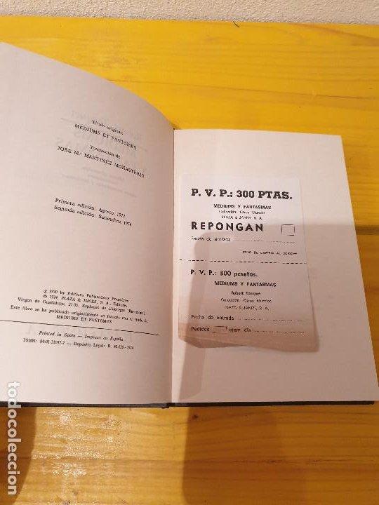 Libros: LIBRO ANTIGUO MEDIUMS Y FANTASMAS ROBERT TOCQUET 1974 - Foto 3 - 199777663