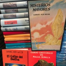 Libros: LOTE 3 LIBROS SAMAEL AUN WENOR MISTERIOS MAYORES CURSO ESOTERICO MAGIA RUNICA COLLAR BUDHA. Lote 201931431