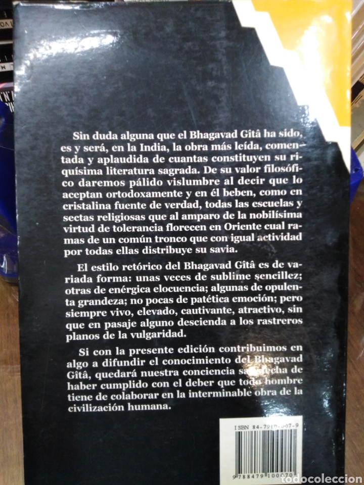 Libros: BHAGAVAD GITA(CANTO DEL SEÑOR)ANNIE BESANT,UTTARA GITTA,EDITORIAL HUMANITAS,1990 - Foto 3 - 218498095