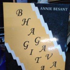 Libros: BHAGAVAD GITA(CANTO DEL SEÑOR)ANNIE BESANT,UTTARA GITTA,EDITORIAL HUMANITAS,1990. Lote 218498095