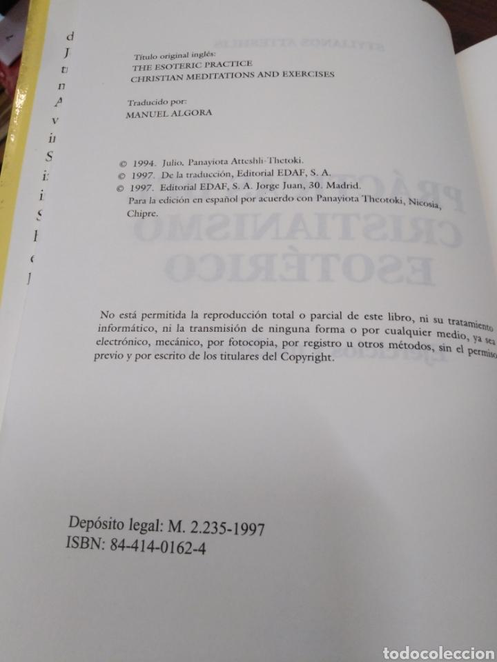Libros: PRÁCTICAS DEL CRISTIANISMO ESOTÉRICO-EJERCICIOS Y MEDITACIONES,STYLIANOS ATTESHLIS,EDAF NUEVA ERA,19 - Foto 6 - 218498562