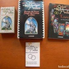 Libros: EL SEÑOR DE LOS ANILLOS / BARAJA DE TAROT, JUEGO DE CARTAS Y LIBRO / TERRY DONALDSON. Lote 222293303