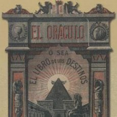 Libros: EL ORÁCULO: O SEA EL LIBRO DE LOS DESTINOS DE NAPOLEÓN. Lote 287091428