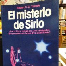 Libros: EL MISTERIO DE SIRIO-ROBERT K.G.TEMPLE-EDITA MARTÍNEZ ROCA 1982. Lote 244531735