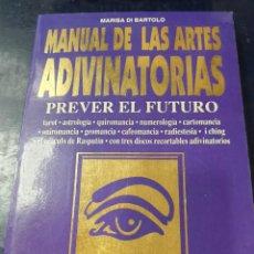 Libros: MANUAL DE LAS ARTES ADIVINATORIAS MARISA DE BARTOLO. Lote 253626110