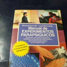 Libros: MANUAL DE EXPERIMENTOS PARAPSIQUICOS 2 LIBROS. Lote 262275950