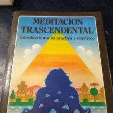 Libros: MEDITACIÓNTRANSCENDENTAL ROBERT HOLLINGS. Lote 262439110