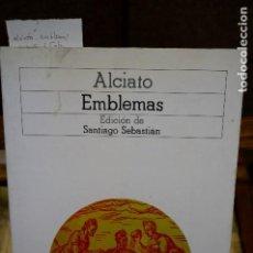 Libros: ALCIATO.EMBLEMAS.ED. DE SANTIAGO SEBASTIAN. Lote 265940038