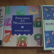 Libros: LOTE TRES LIBROS DE NUMEROLOGIA. Lote 276228128
