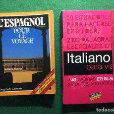 Libros: 2 DICCIONARIOS TRADUCTORES, UNO DE ITALIANO (ANAYA TOURING) Y OTRO DE ESPAÑOL PARA FRANCESES(LONGMAN. Lote 231014450