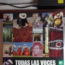 Libros: TODAS LAS VOCES A1 A2 EDITORIAL DIFUSION ELE. Lote 249477275