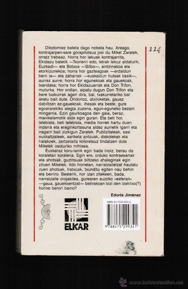 Libros: HAURGINTZA MINETAN - MIKEL ZARATE - ELKAR - EN EUSKERA - Foto 2 - 39824982