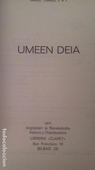 Libros: Umeen - Deia I. Torres P. Felipe de Murieta 1971 Pais Vasco Euskadi - Foto 3 - 83534936