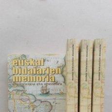 Libros: EUSKAL BIDAIARIEN MEMORIA. Lote 90842925