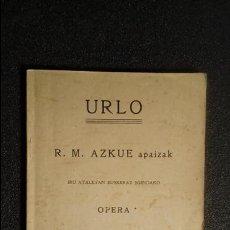 Libros: EUSKERA. LIBROS EN LENGUA VASCA. BUEN ESCRITOR VIZCAÍNO.. Lote 124389491