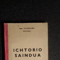 Libros: EUSKERA LABORTANO. LIBROS EN LENGUA VASCA. ESCRITOR LABORTANO PUNTERO.. Lote 126266624