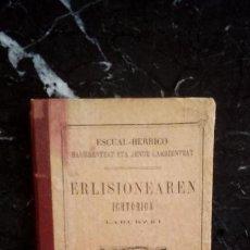 Libros: BREVE HISTORIA DE LA RELIGIÓN EN EUSKERA LABORTANO.. Lote 128155683