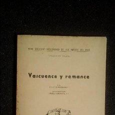 Libros: LINGÜÍSTICA VASCA. SCHUCHARDT. VASCUENCE Y ROMANCE. ESTUDIO COMPARATIVO.. Lote 128688283
