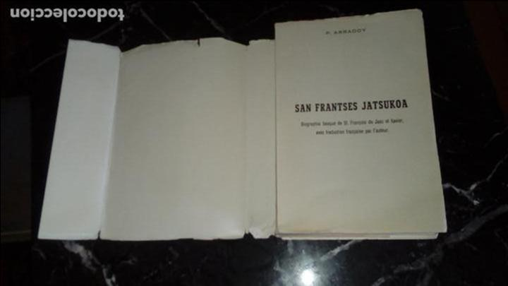 Libros: Vida de San Francisco de Javier en Euskera. Arradoy. Biografía de San Francisco. - Foto 2 - 130594226