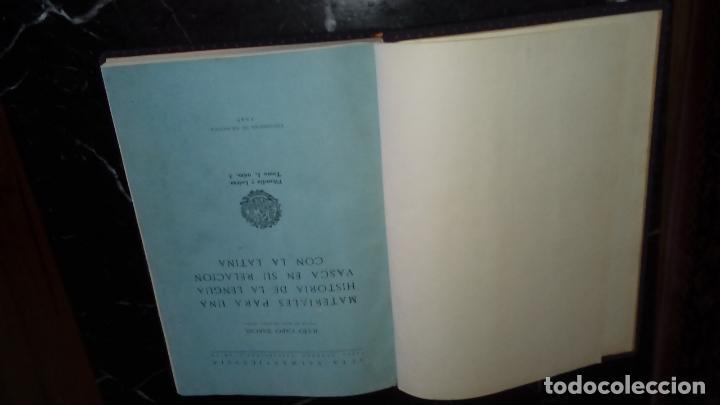 Libros: Julio Caro Baroja. Euskera.Euskera y latín. Mapas acerca del uso del euskera en la geografía vasca. - Foto 2 - 130594754