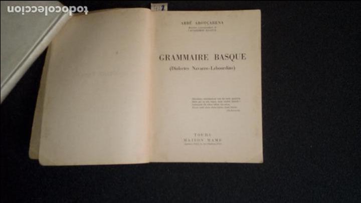 Libros: Gramática Vasca de los dialectos navarro-labortanos. Euskera. - Foto 2 - 132707742