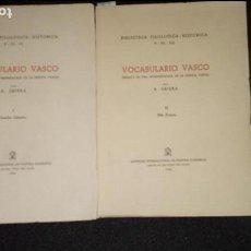 Libros: EUSKERA. VOCABULARIO VASCO. GRIERA A. ENSAYO DE UNA INTERPRETACIÓN DE LA LENGUA VASCA.. Lote 135927738