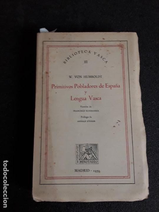 HUMBOLDT. ANTIGUAS LENGUAS DE LA PENÍNSULA Y EL EUSKARA. (Libros Nuevos - Otras lenguas locales - Euskera)