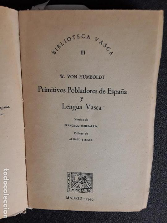 Libros: Humboldt. Antiguas Lenguas de la Península y el Euskara. - Foto 3 - 144316038