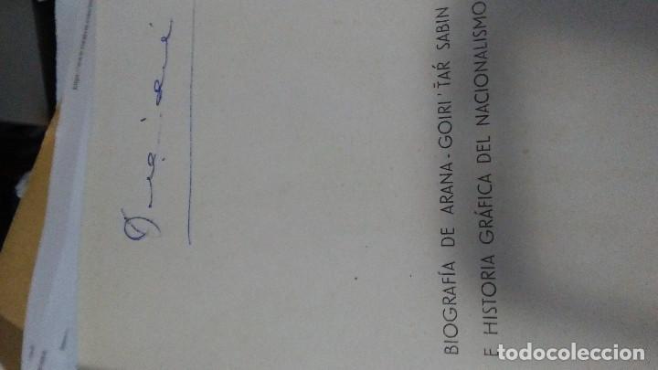 Libros: BIOGRAFÍA DE SABINO ARANA - GOIRI -TAR SABIN PRE GUERRA CIVIL. CEFERINO DE JEMEIN Y LAM. EUSKADI - Foto 3 - 146057634