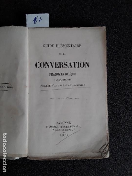 GUÍA DE CONVERSACIÓN FRANCÉS-VASCO. EUSKERA. LENGUA VASCA. (Libros Nuevos - Otras lenguas locales - Euskera)
