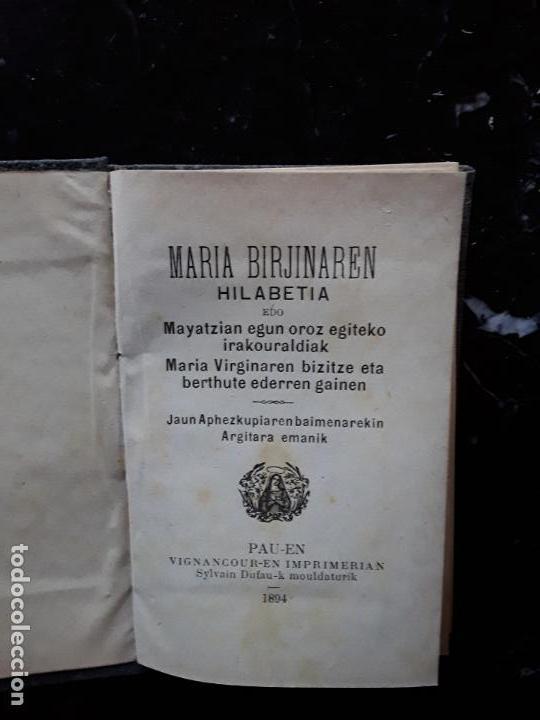 (EUSKERA. LENGUA VASCA) INCHAUSPE?. MARIA BIRJINAREN HILABETIA EDO … 1894 (Libros Nuevos - Otras lenguas locales - Euskera)