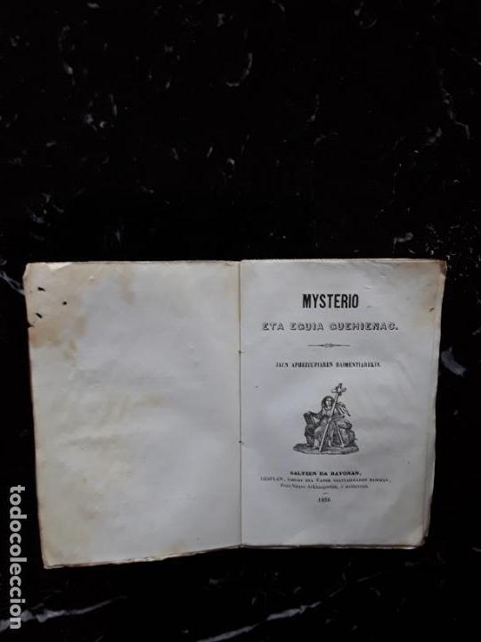 (EUSKERA. LENGUA VASCA) MYSTERIO ETA EGUIA GUEHIENAC. 1856. (Libros Nuevos - Otras lenguas locales - Euskera)