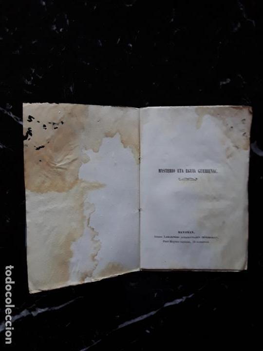 Libros: (Euskera. Lengua Vasca) Mysterio eta Eguia guehienac. 1856. - Foto 4 - 157888450
